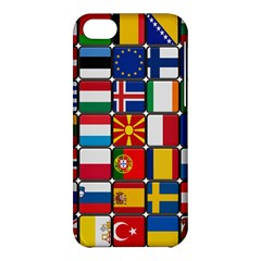 Europe Flag Star Button Blue Apple iPhone 5C Hardshell Case