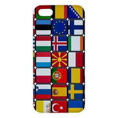 Europe Flag Star Button Blue iPhone 5S/ SE Premium Hardshell Case