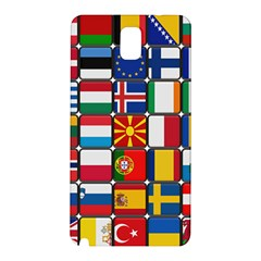 Europe Flag Star Button Blue Samsung Galaxy Note 3 N9005 Hardshell Back Case