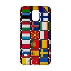 Europe Flag Star Button Blue Samsung Galaxy S5 Hardshell Case