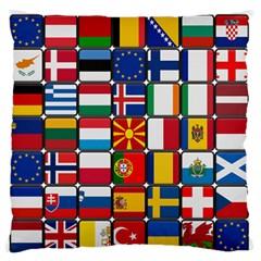 Europe Flag Star Button Blue Standard Flano Cushion Case (One Side)