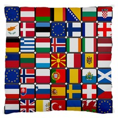 Europe Flag Star Button Blue Large Flano Cushion Case (One Side)