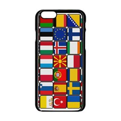 Europe Flag Star Button Blue Apple Iphone 6/6s Black Enamel Case