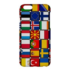 Europe Flag Star Button Blue Apple iPhone 6 Plus/6S Plus Hardshell Case
