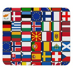 Europe Flag Star Button Blue Double Sided Flano Blanket (Small)
