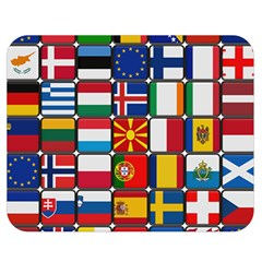 Europe Flag Star Button Blue Double Sided Flano Blanket (Medium)