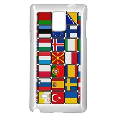 Europe Flag Star Button Blue Samsung Galaxy Note 4 Case (White)