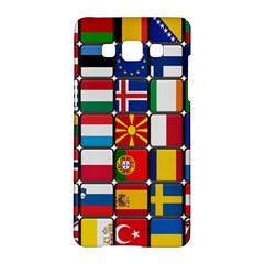 Europe Flag Star Button Blue Samsung Galaxy A5 Hardshell Case