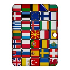 Europe Flag Star Button Blue Samsung Galaxy Tab 4 (10 1 ) Hardshell Case