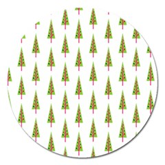 Christmas Tree Magnet 5  (Round)