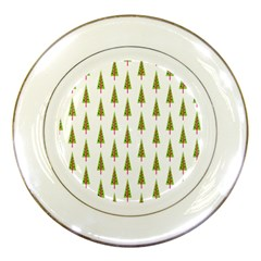 Christmas Tree Porcelain Plates