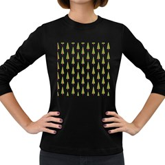 Christmas Tree Women s Long Sleeve Dark T-Shirts