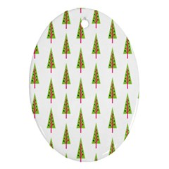 Christmas Tree Oval Ornament (Two Sides)