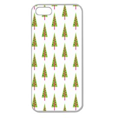 Christmas Tree Apple Seamless Iphone 5 Case (clear)