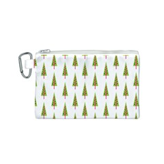 Christmas Tree Canvas Cosmetic Bag (S)