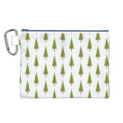 Christmas Tree Canvas Cosmetic Bag (L)