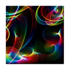 Abstract Rainbow Twirls Tile Coasters