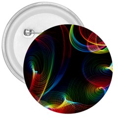 Abstract Rainbow Twirls 3  Buttons