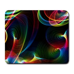 Abstract Rainbow Twirls Large Mousepads