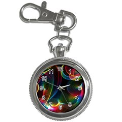 Abstract Rainbow Twirls Key Chain Watches