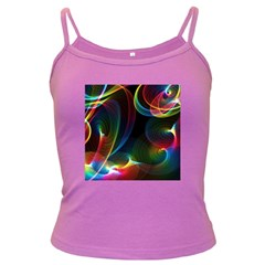 Abstract Rainbow Twirls Dark Spaghetti Tank