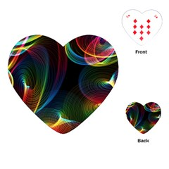 Abstract Rainbow Twirls Playing Cards (Heart)