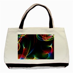Abstract Rainbow Twirls Basic Tote Bag