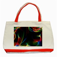 Abstract Rainbow Twirls Classic Tote Bag (Red)
