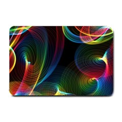 Abstract Rainbow Twirls Small Doormat