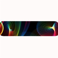 Abstract Rainbow Twirls Large Bar Mats