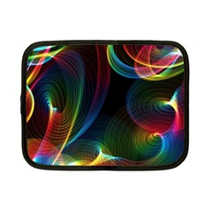 Abstract Rainbow Twirls Netbook Case (small)