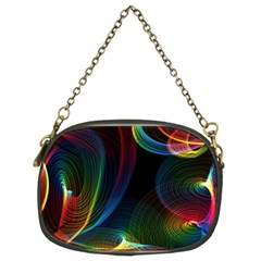 Abstract Rainbow Twirls Chain Purses (Two Sides)