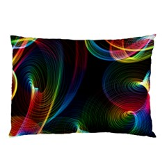 Abstract Rainbow Twirls Pillow Case