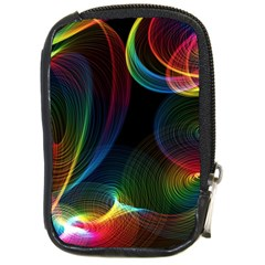Abstract Rainbow Twirls Compact Camera Cases