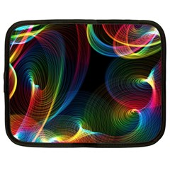 Abstract Rainbow Twirls Netbook Case (XL)