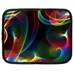 Abstract Rainbow Twirls Netbook Case (XXL)