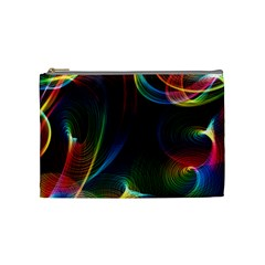 Abstract Rainbow Twirls Cosmetic Bag (Medium)