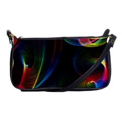 Abstract Rainbow Twirls Shoulder Clutch Bags