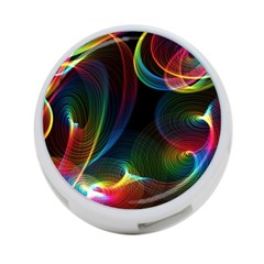 Abstract Rainbow Twirls 4-Port USB Hub (Two Sides)