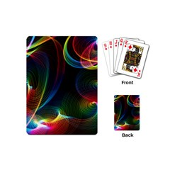 Abstract Rainbow Twirls Playing Cards (Mini)
