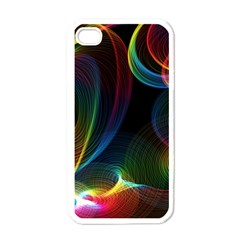 Abstract Rainbow Twirls Apple Iphone 4 Case (white)