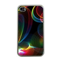 Abstract Rainbow Twirls Apple iPhone 4 Case (Clear)