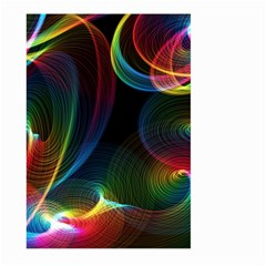 Abstract Rainbow Twirls Large Garden Flag (Two Sides)