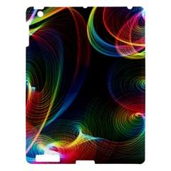 Abstract Rainbow Twirls Apple iPad 3/4 Hardshell Case