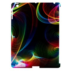 Abstract Rainbow Twirls Apple iPad 3/4 Hardshell Case (Compatible with Smart Cover)