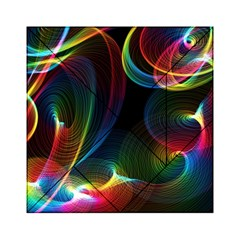 Abstract Rainbow Twirls Acrylic Tangram Puzzle (6  x 6 )