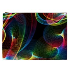 Abstract Rainbow Twirls Cosmetic Bag (XXL)