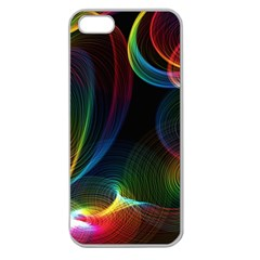 Abstract Rainbow Twirls Apple Seamless iPhone 5 Case (Clear)