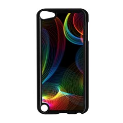 Abstract Rainbow Twirls Apple iPod Touch 5 Case (Black)