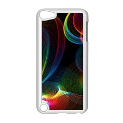 Abstract Rainbow Twirls Apple iPod Touch 5 Case (White)